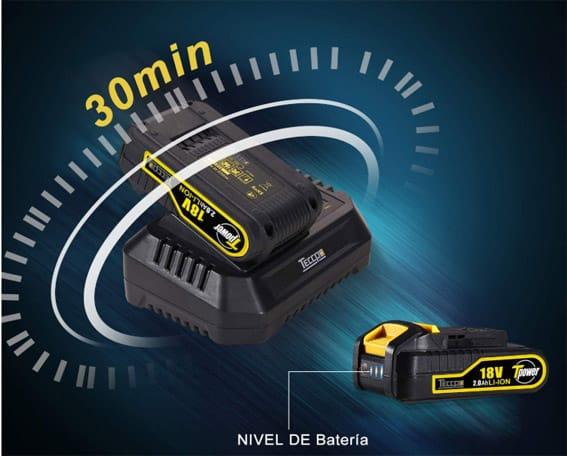 Taladro atornillador Teccpo TDHD01P batería