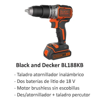 Taladro atornillador Black and Decker