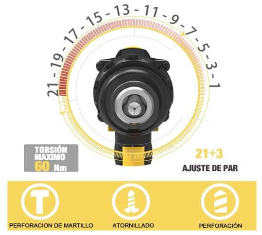 Teccpo taladro TDHD01P