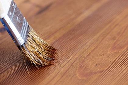 brush on wood